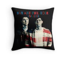 Dan and Phil USA Tour 2016 Throw Pillow