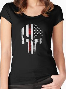 Punisher Red line 2016 Women's Fitted Scoop T-Shirt