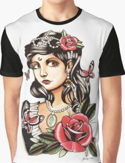 Butterfly Girl - tattoo Graphic T-Shirt