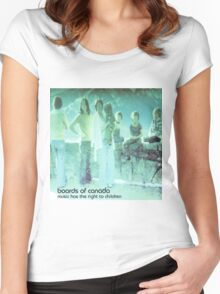boards of canada music has the right to children Women's Fitted Scoop T-Shirt