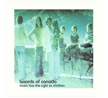 boards of canada music has the right to children Art Print