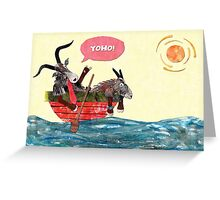 Goats in a Boat Greeting Card