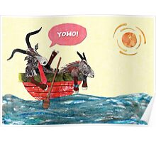 Goats in a Boat Poster