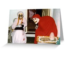 Found Photo Halloween Card - Ghouls Greeting Card