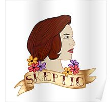 scully the skeptic Poster