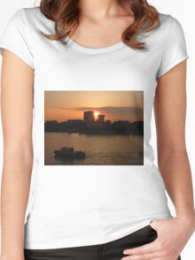 Urban Sunset Women's Fitted Scoop T-Shirt