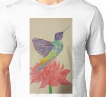 Hummingbird on a flower  Unisex T-Shirt