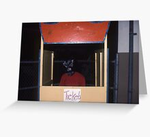 Found Photo Halloween Card - Werewolf Ticket Taker Greeting Card