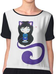 Chibi Kitten Girl  Chiffon Top