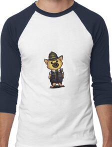German Shepherd Cop 1 Men's Baseball ¾ T-Shirt