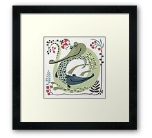 Crocodile love Framed Print