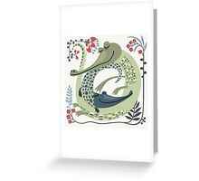 Crocodile love Greeting Card