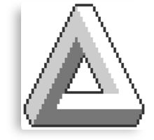 Impossible Triangle Pixel Art Canvas Print