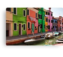 A Day in Burano Canvas Print