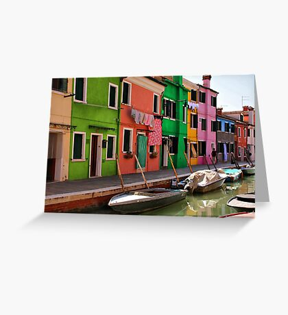 A Day in Burano Greeting Card