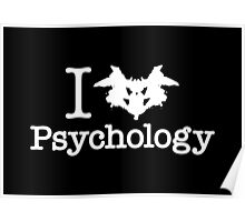 I Heart (Rorschach Inkblot) Psychology Poster