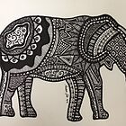 Elephant Drawing by stickersgalore