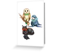Gen 7 Starters Greeting Card
