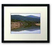 SCENES & SCENERY ~ GREEN ~ Reflections by tasmanianartist Framed Print
