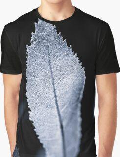 B/W Backlit Leaf Graphic T-Shirt