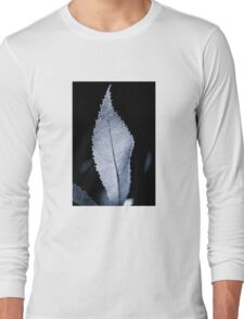 B/W Backlit Leaf Long Sleeve T-Shirt