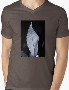 B/W Backlit Leaf Mens V-Neck T-Shirt