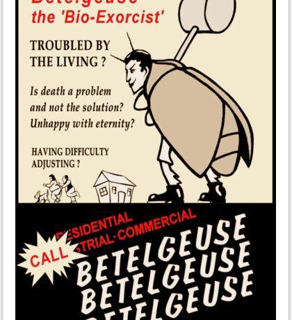 Beetlejuice Advertisement Sticker