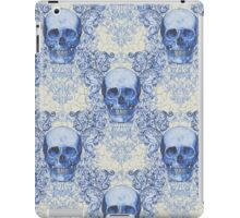 Blue Willow Skull pattern iPad Case/Skin