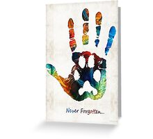 Rainbow Bridge Art - Never Forgotten - By Sharon Cummings Greeting Card