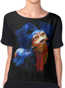Ello Worm Painting - Labyrinth Movie  Chiffon Top