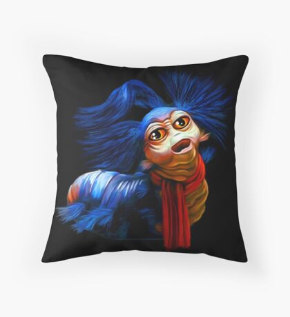 Ello Worm Painting - Labyrinth Movie  Throw Pillow