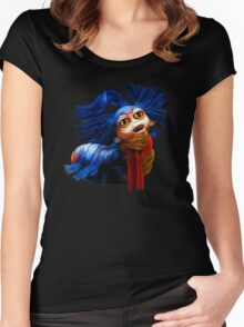 Ello Worm Painting - Labyrinth Movie  Women's Fitted Scoop T-Shirt
