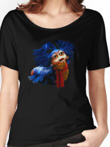 Ello Worm Painting - Labyrinth Movie  Women's Relaxed Fit T-Shirt
