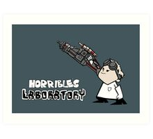 Horrible's Laboratory Art Print