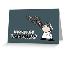 Horrible's Laboratory Greeting Card