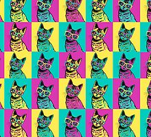 kitten art pop by Amanda  Cass