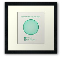 Everything is Natural Framed Print