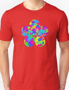 Crazy Colorful Circles Pattern Unisex T-Shirt