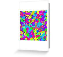 Crazy Colorful Circles Pattern Greeting Card