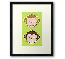 Bananas Couple Framed Print