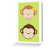 Bananas Couple Greeting Card