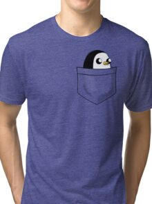 There's an evil penguin in my pocket! Tri-blend T-Shirt