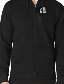 There's an evil penguin in my pocket! Zipped Hoodie