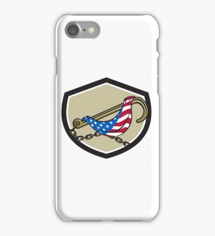 Towing J Hook Flag Draped Shield Retro iPhone Case/Skin