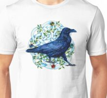 Raven With Four Direction Knot work Unisex T-Shirt