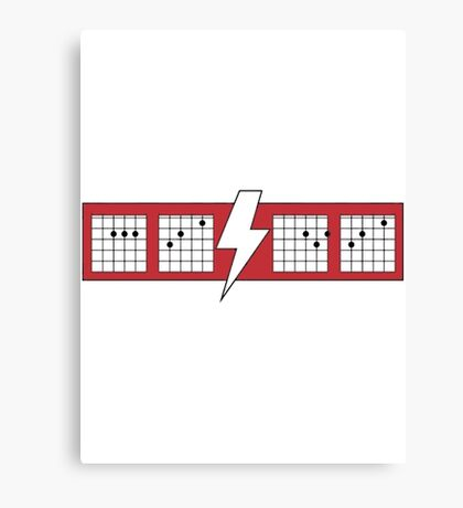 ACDC Chords Funny Canvas Print