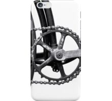 Old Bicycle Pedal Sprocket and Chain iPhone Case/Skin