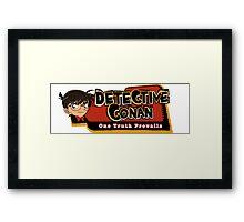 Detective Conan/Case Closed Logo Framed Print