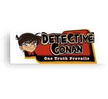 Detective Conan/Case Closed Logo Canvas Print