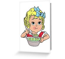 Cry Baby Alphabet Soup Greeting Card